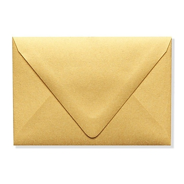 LUX A1 Contour Flap Envelopes (3 5/8 x 5 1/8) 50/Box, Gold Metallic (1865-07-50)