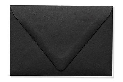 LUX A1 Contour Flap Envelopes (3 5/8 x 5 1/8) 50/Box, Midnight Black (1865-B-50)