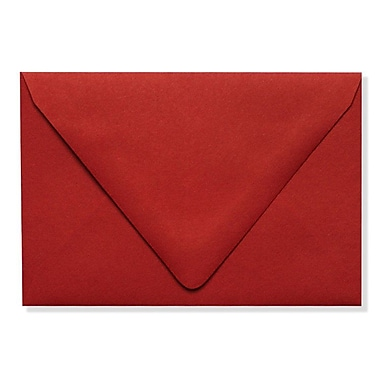 LUX A1 Contour Flap Envelopes (3 5/8 x 5 1/8), Ruby Red, 250/Box (EX-1865-18-250)