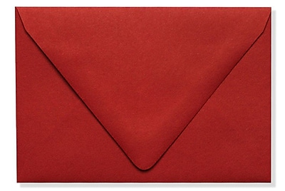 LUX A1 Contour Flap Envelopes (3 5/8 x 5 1/8) 250/Box, Ruby Red (EX-1865-18-250)