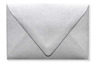 LUX A1 Contour Flap Envelopes (3 5/8 x 5 1/8) 1000/Box, Silver Metallic (1865-06-1000)