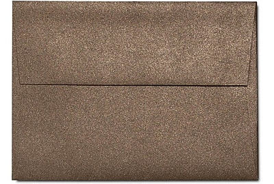 LUX A6 Invitation Envelopes (4 3/4 x 6 1/2) 50/Box, Bronze Metallic (5375-12-50)