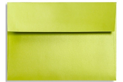 LUX A1 Invitation Envelopes (3 5/8 x 5 1/8) 250/Box, Glowing Green (FA4865-03-250)