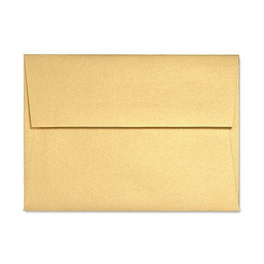 LUX A1 Invitation Envelopes (3 5/8 x 5 1/8) 50/Box, Gold Metallic (5365-07-50)