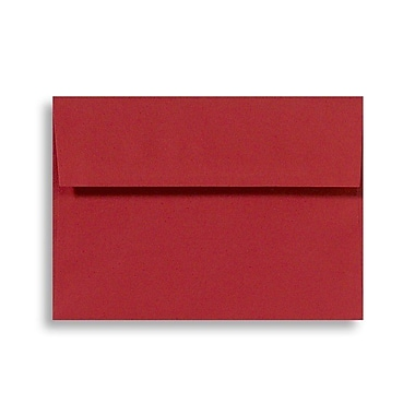 LUX A1 Invitation Envelopes (3 5/8 x 5 1/8) 250/Box, Holiday Red (FE4265-15-250)