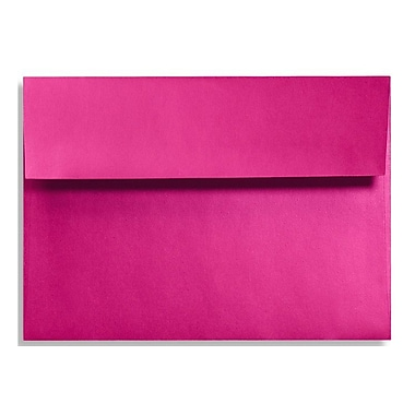 LUX A1 Invitation Envelopes (3 5/8 x 5 1/8) 500/Box, Hottie Pink (FA4865-04-500)