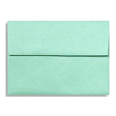 LUX A1 Invitation Envelopes (3 5/8 x 5 1/8) 50/Box, Lagoon Metallic (5365-27-50)