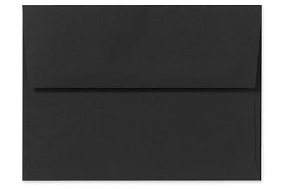 LUX A10 Invitation Envelopes (6 x 9 1/2) 250/Box, Midnight Black (F-4590-B-250)