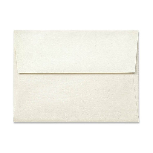 "LUX® 5 3/4"" x 8 3/4"" 80lbs. A9 Invitation Envelopes W/Peel & Press, Quartz Metallic, 50/Pack"