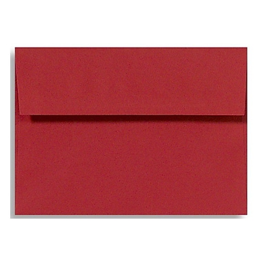 LUX A1 Invitation Envelopes (3 5/8 x 5 1/8) 500/Box, Ruby Red (EX4865-18-500)