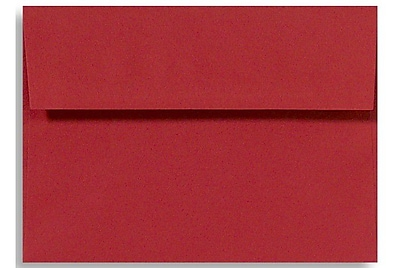 LUX A1 Invitation Envelopes (3 5/8 x 5 1/8) 50/Box, Ruby Red (EX4865-18-50)