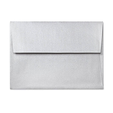 LUX A7 Invitation Envelopes (5 1/4 x 7 1/4) 500/Box, Silver Metallic (5380-06-500)