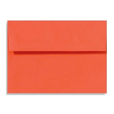 LUX A1 Invitation Envelopes (3 5/8 x 5 1/8) 50/Box, Tangerine (LUX-4865-112-50)