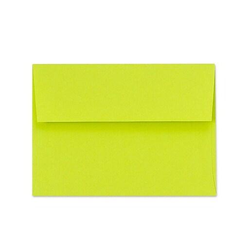 LUX A1 Invitation Envelopes (3 5/8 x 5 1/8) 50/Box, Wasabi (FE4865-22-50)