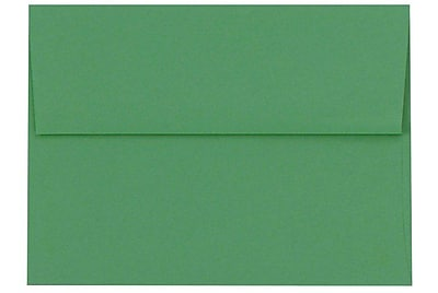 LUX A8 Invitation Envelopes (5 1/2 x 8 1/8) 50/Box, Holiday Green (67211-50)