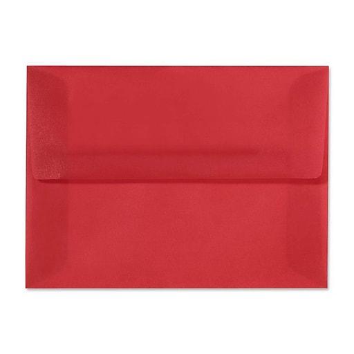 LUX A10 Invitation Envelopes (6 x 9 1/2) 250/box, Red Translucent (4890-21-250)