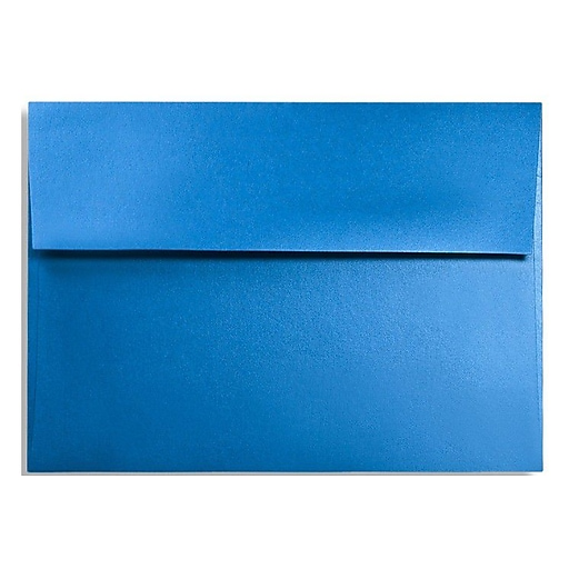 "LUX® 4 3/8"" x 5 3/4"" 92lbs. Square Flap Envelopes W/Glue, Boutique Blue, 50/Pack"