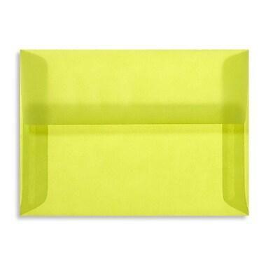 LUX A2 Invitation Envelopes (4 3/8 x 5 3/4) 250/box, Chartreuse Translucent (4870-42-250)