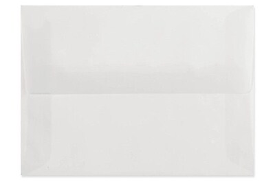 LUX A6 Invitation Envelopes (4 3/4 x 6 1/2) 250/box, Platinum Translucent (4875-31-250)