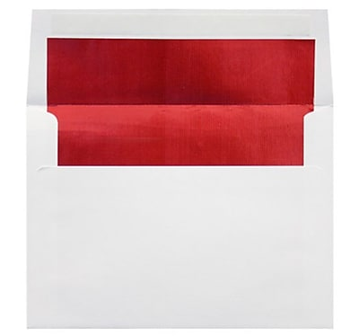 LUX A2 (4 3/8 x 5 3/4) 50/Box, White w/Red LUX Lining (FLWH4870-01-50)
