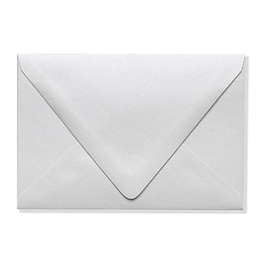 LUX A4 Contour Flap Envelopes (4 1/4 x 6 1/4) 500/Box, Crystal Metallic (1872-30-500)