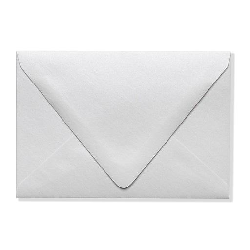 LUX A4 Contour Flap Envelopes (4 1/4 x 6 1/4) 50/Box, Crystal Metallic (1872-30-50)