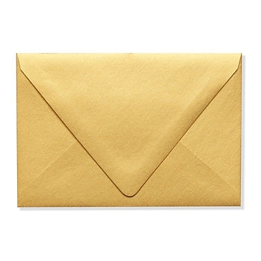 LUX A4 Contour Flap Envelopes (4 1/4 x 6 1/4) 50/Box, Gold Metallic (1872-07-50)