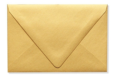 LUX A4 Contour Flap Envelopes (4 1/4 x 6 1/4) 1000/Box, Gold Metallic (1872-07-1000)