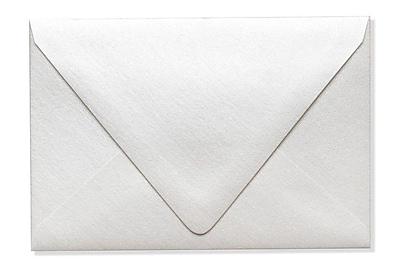 LUX A4 Contour Flap Envelopes (4 1/4 x 6 1/4) 50/Box, Quartz Metallic (1872-08-50)
