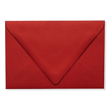 LUX A4 Contour Flap Envelopes (4 1/4 x 6 1/4) 250/Box, Ruby Red (EX-1872-18-250)