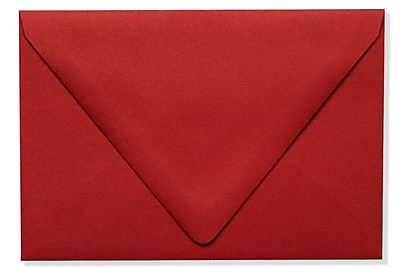 LUX A4 Contour Flap Envelopes (4 1/4 x 6 1/4) 1000/Box, Ruby Red (EX-1872-18-1000)