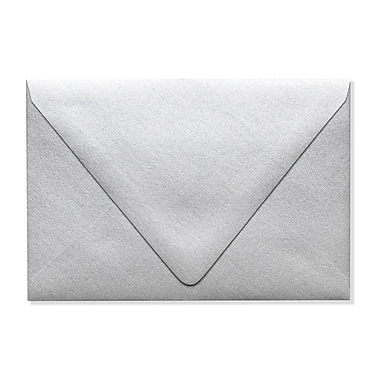 LUX A4 Contour Flap Envelopes (4 1/4 x 6 1/4) 250/Box, Silver Metallic (1872-06-250)