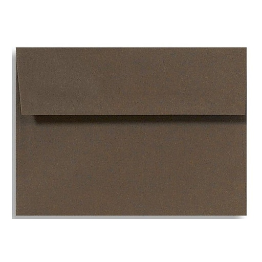 LUX A4 Invitation Envelopes (4 1/4 x 6 1/4) 50/Box, Chocolate (LUX-4872-17-50)