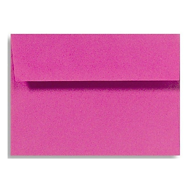 LUX A4 Invitation Envelopes (4 1/4 x 6 1/4) 50/Box, Magenta (LUX-4872-10-50)