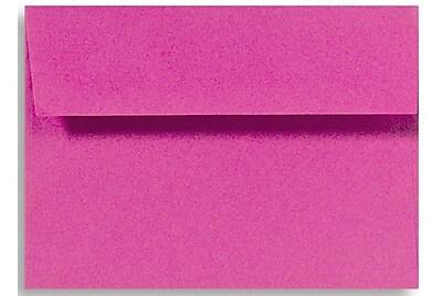 LUX A4 Invitation Envelopes (4 1/4 x 6 1/4) 50/Box, Magenta (LUX-4872-10-50)