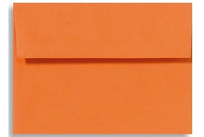 LUX A4 Invitation Envelopes (4 1/4 x 6 1/4) 50/Box, Mandarin (LUX-4872-11-50)