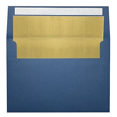 LUX A4 Foil Lined Invitation Envelopes (4 1/4 x 6 1/4) 500/Box, Navy w/Gold LUX Lining (FLNV4872-04-500)
