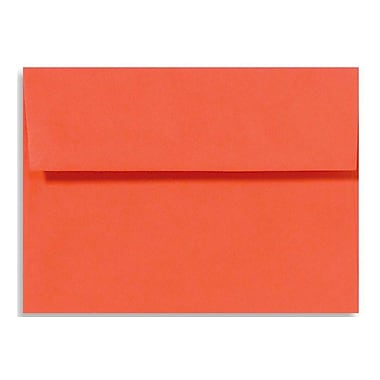 LUX A4 Invitation Envelopes (4 1/4 x 6 1/4) 50/Box, Tangerine (LUX-4872-112-50)