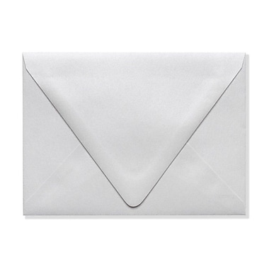 LUX A6 Contour Flap Envelopes (4 3/4 x 6 1/2) 50/Box, Crystal Metallic (1875-30-50)