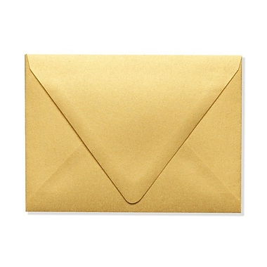 LUX A6 Contour Flap Envelopes (4 3/4 x 6 1/2) 500/Box, Gold Metallic (1875-07-500)
