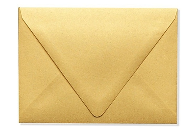 LUX A6 Contour Flap Envelopes (4 3/4 x 6 1/2) 250/Box, Gold Metallic (1875-07-250)