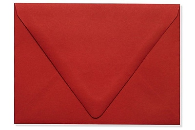 LUX A6 Contour Flap Envelopes (4 3/4 x 6 1/2) 1000/Box, Ruby Red (EX-1875-18-1000)