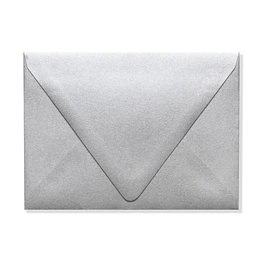 LUX A6 Contour Flap Envelopes (4 3/4 x 6 1/2), Silver Metallic, 1000/Box (1875-06-1000)