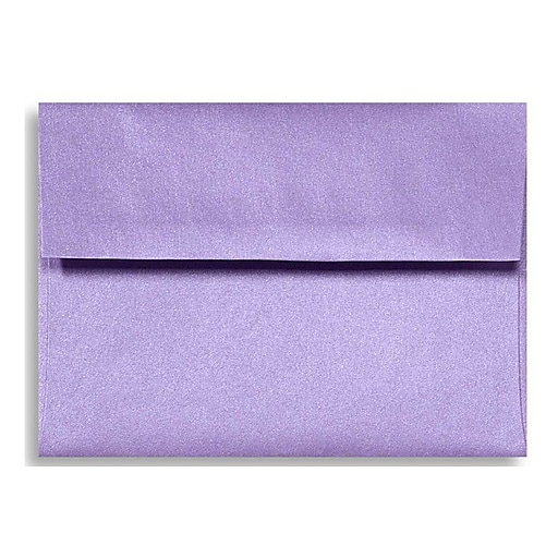 LUX A6 Invitation Envelopes (4 3/4 x 6 1/2) 50/Box, Amethyst Metallic (5375-17-50)