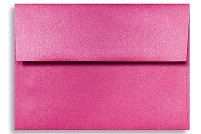 LUX A6 Invitation Envelopes (4 3/4 x 6 1/2) 50/Box, Azalea Metallic (5375-24-50)