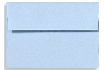LUX A6 Invitation Envelopes (4 3/4 x 6 1/2) 500/Box, Baby Blue (EX4875-13-500)