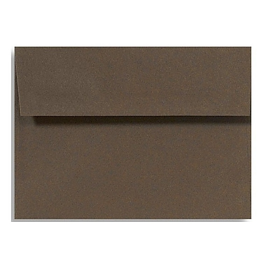 LUX A6 Invitation Envelopes (4 3/4 x 6 1/2) 50/Box, Chocolate (EX4875-17-50)