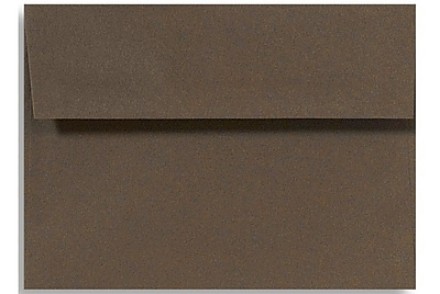 LUX A6 Invitation Envelopes (4 3/4 x 6 1/2) 50/Box, Chocolate (EX4875-17-50)