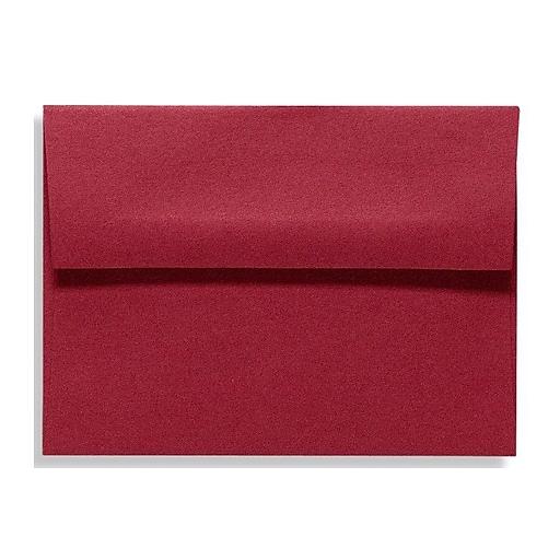 LUX A6 Invitation Envelopes (4 3/4 x 6 1/2) 50/Box, Garnet (EX4875-26-50)