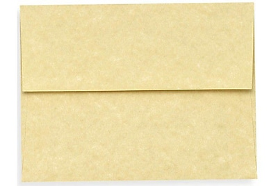 LUX A6 Invitation Envelopes (4 3/4 x 6 1/2) 250/Box, Gold Parchment (6675-14-250)